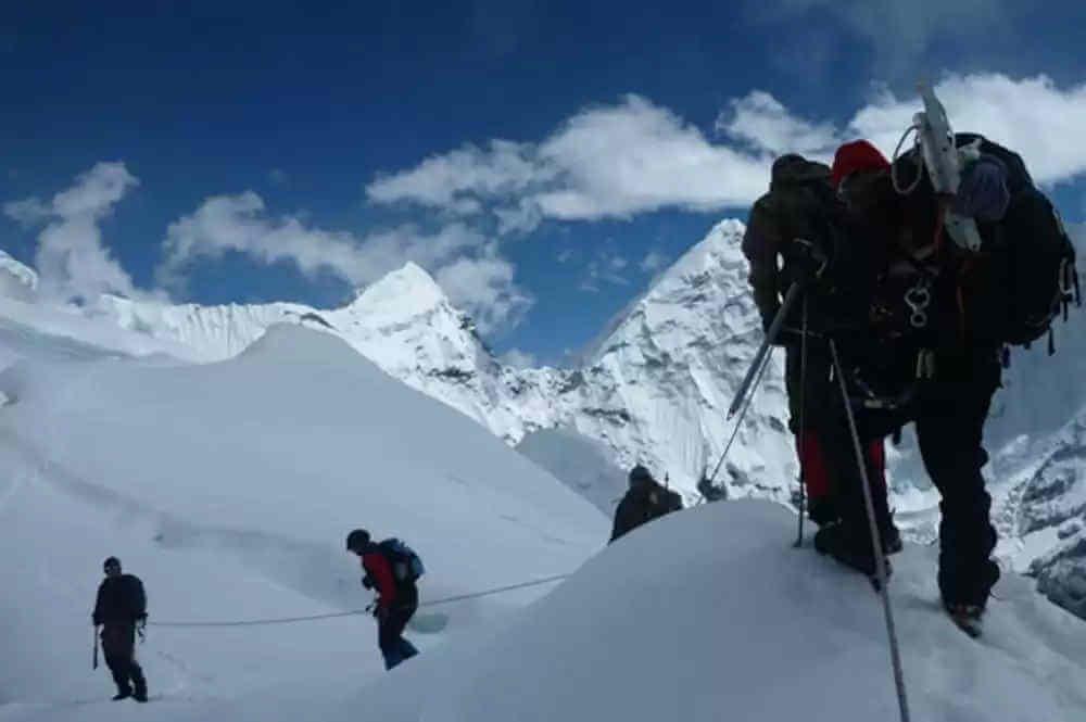 West Chulu Peak Climbing